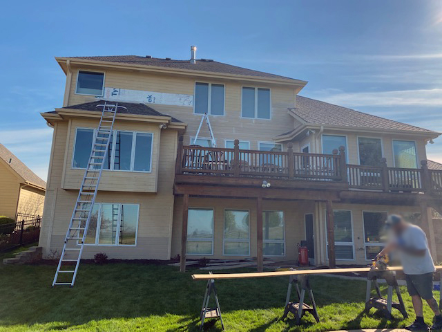 exterior siding painting in Omaha